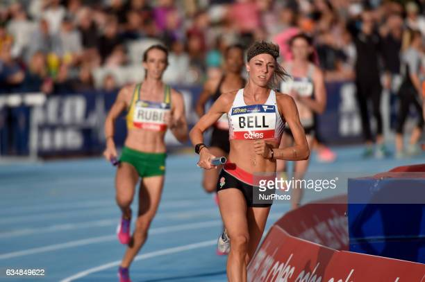 Alex Bell of England competing in the Mixed 2000m Relay during Nitro Athletics at Lakeside Stadium on February 11 2017 in Melbourne Australia