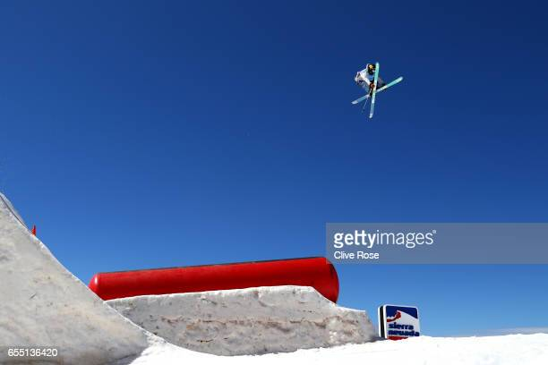 Alex Bellemare of Canada competes in the Men's Slopestyle final during day twelve of the FIS Freestyle Ski Snowboard World Championships 2017 on...