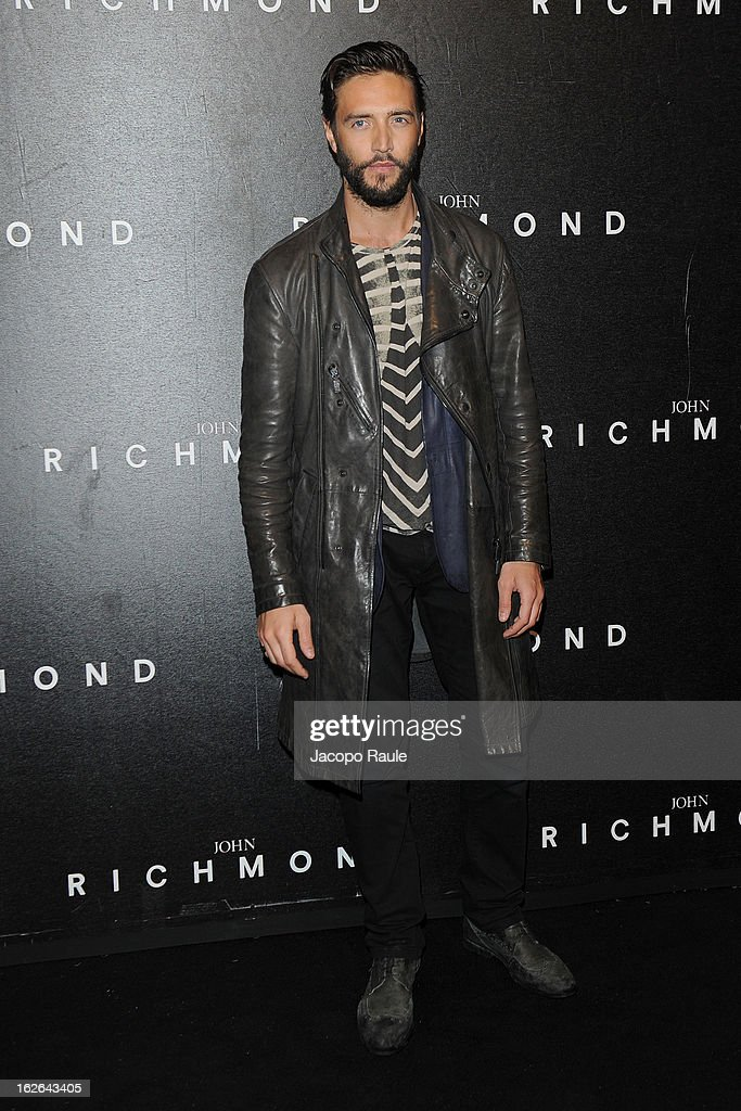Alex Belli attends the John Richmond fashion show as part of Milan Fashion Week Womenswear Fall/Winter 2013/14 on February 25, 2014 in Milan, Italy.
