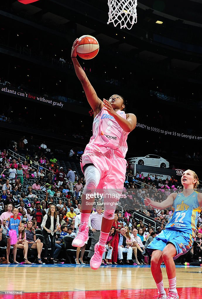 Alex Bentley #2 of the Atlanta Dream puts up a shot against the Chicago Sky at Philips Arena on August 24 2013 in Atlanta, Georgia.