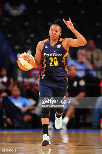 Alex Bentley of the Connecticut Sun handles the ball against the Atlanta Dream during at WNBA game on August 15 2017 at Hank McCamish Pavilion in...