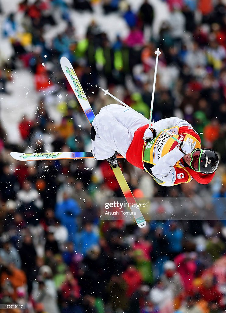 Alex Bilodeau of Canada competes in the Men's Moguls final during the 2014 FIS Free Style Ski World Cup Inawashiro at Listel Inawashiro on March 1, 2014 in Inawashiro, Japan.
