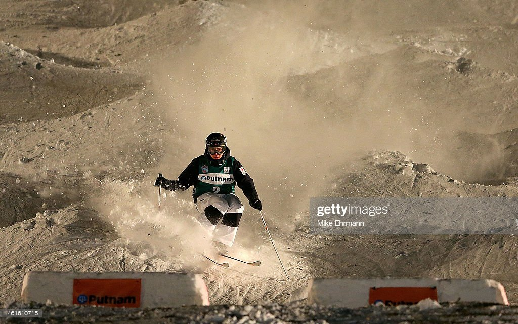 Alex Bilodeau of Canda competes during Finals for Mens Moguls at the 2014 FIS Freestyle Ski World Cup at Deer Valley on January 9, 2014 in Park City, Utah.