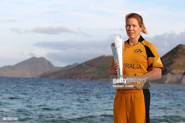 Alex Blackwell captain of Australia poses with the ICC T20 World Cup trophy on May 1 2010 in St Kitts Saint Kitts And Nevis