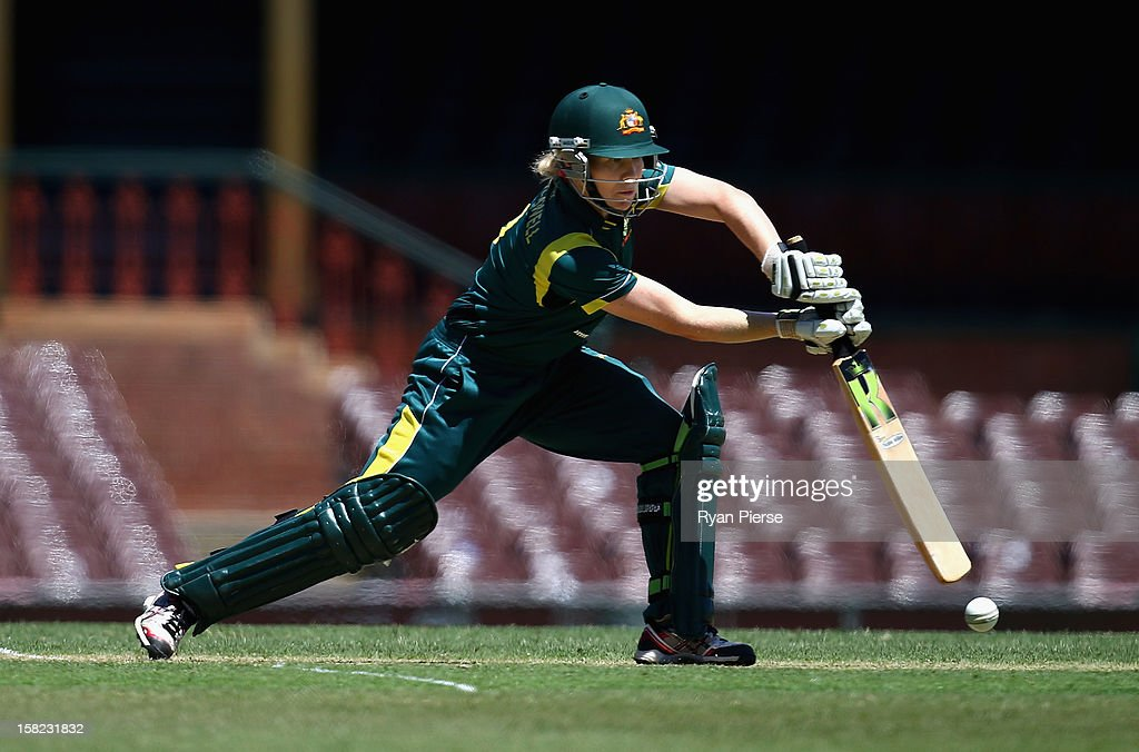 Alex Blackwell of Australia bats during the first Rose Bowl Series One Day International match between Australia Southern Stars and New Zealand Silver Ferns at the Sydney Cricket Ground on December 12, 2012 in Sydney, Australia.