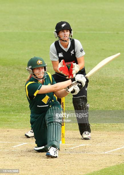 Alex Blackwell of Australia bats during the women's Twenty20 match between the Australian Southern Stars and New Zealand at North Sydney Oval on...