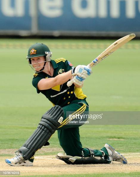 Alex Blackwell of CBA bats during the One Day International women's match between the CBA and England at WACA on January 5 2011 in Perth Australia