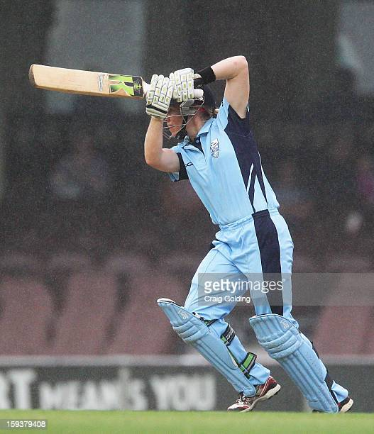 Alex Blackwell of the Breakers bats during the WNCL Final match between the NSW Breakers and the Queensland Fire at the Sydney Cricket Ground on...