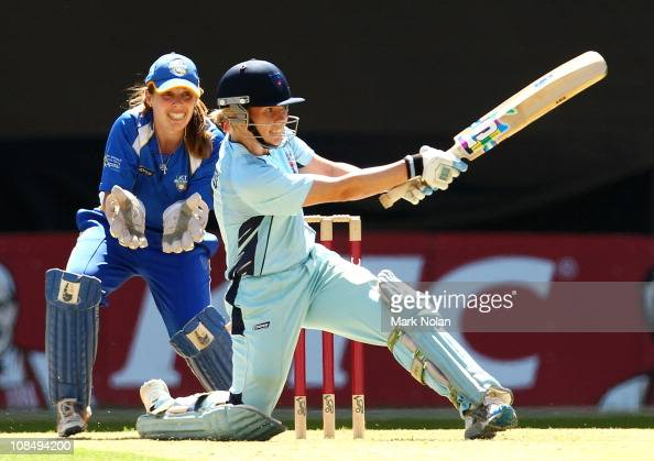 Alex Blackwell of the Breakers bats during the Women's twenty20 match between the New South Wales Breakers and the Canberra Meteors at Sydney Olympic...