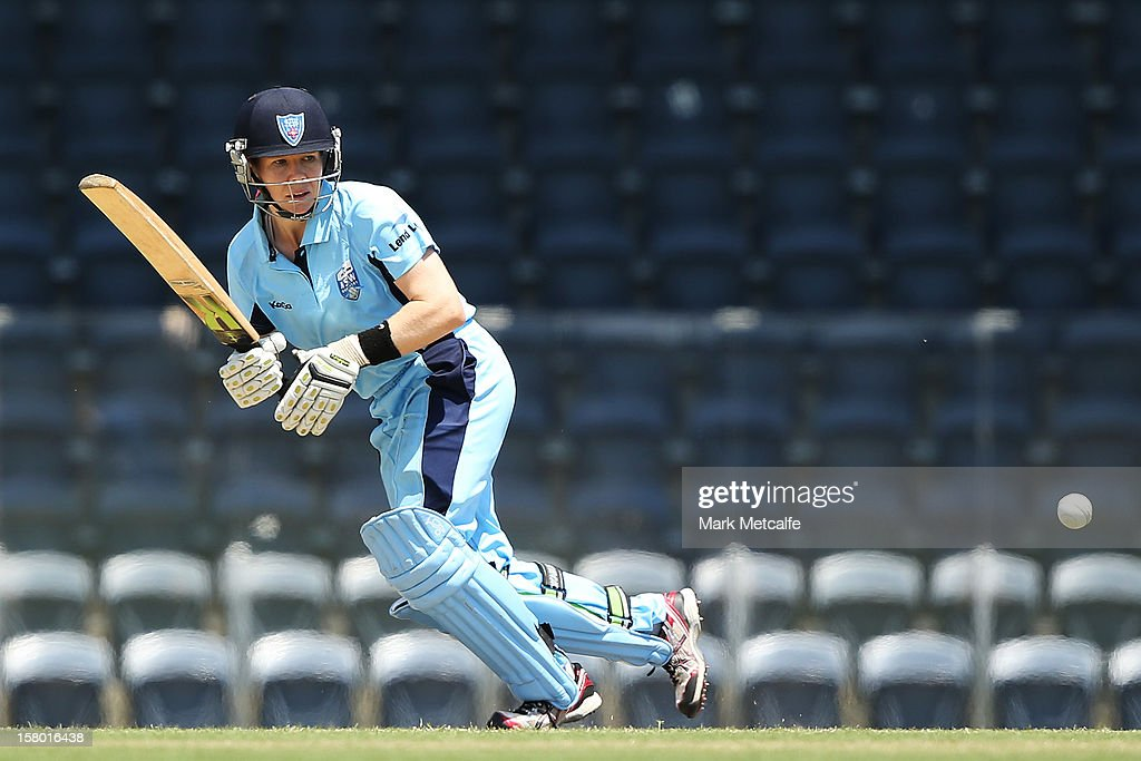 Alex Blackwell of the Breakers bats during the women's Twenty20 match between the New South Wales Breakers and the Tasmania Roar at Blacktown International Sportspark on December 9, 2012 in Sydney, Australia.