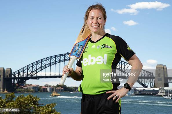 Alex Blackwell of the Sydney Thunder poses during the Women's Big Bash League 2016/17 Season launch at Goat Island on December 9 2016 in Sydney...
