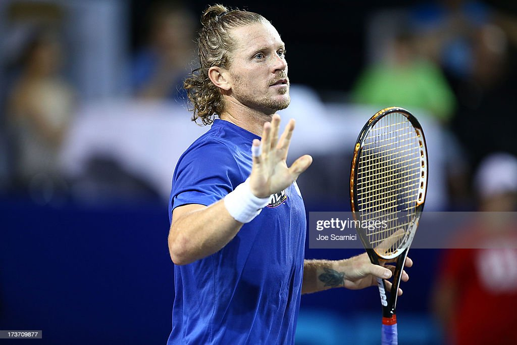 <a gi-track='captionPersonalityLinkClicked' href=/galleries/search?phrase=Alex+Bogomolov+Jr.&family=editorial&specificpeople=234870 ng-click='$event.stopPropagation()'>Alex Bogomolov Jr.</a> of the Texas Wild reacts to a point as the Texas Wild compete against the Orange County Breakers on July 16, 2013 in Newport Beach, California.