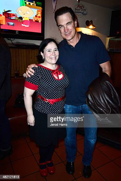 Alex Borstein and Patrick Warburton attend the Launch Party for the 'Family Guy' Game at the Happy Ending Bar Restaurant on April 2 2014 in Hollywood...