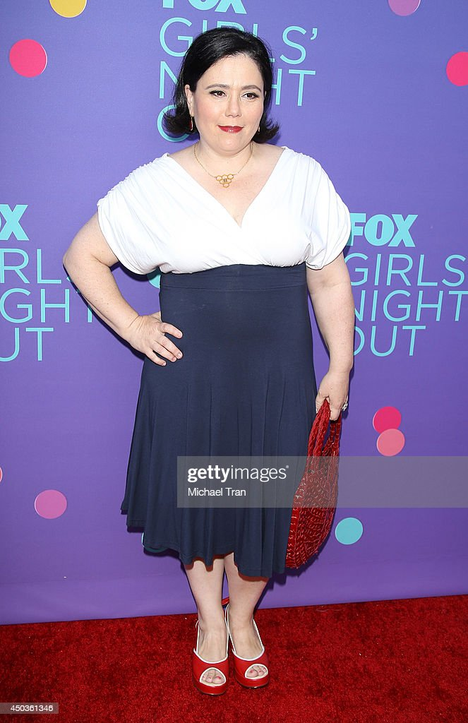 <a gi-track='captionPersonalityLinkClicked' href=/galleries/search?phrase=Alex+Borstein&family=editorial&specificpeople=549866 ng-click='$event.stopPropagation()'>Alex Borstein</a> arrives at Fox's 'Girls Night Out' held at Leonard H. Goldenson Theatre on June 9, 2014 in North Hollywood, California.