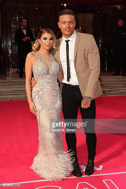 Alex Bowen and Olivia Buckland attend the ITV Gala hosted by Jason Manford at London Palladium on November 24 2016 in London England