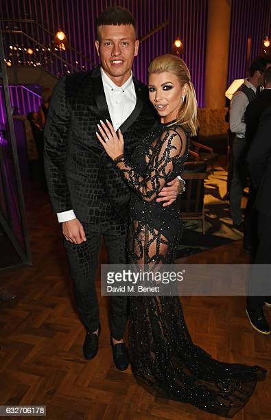 Alex Bowen and Olivia Buckland attend the National Television Awards cocktail reception at The O2 Arena on January 25 2017 in London England
