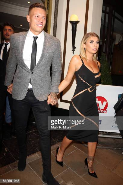 Alex Bowen and Olivia Buckland attending the TV choice awards on September 4 2017 in London England