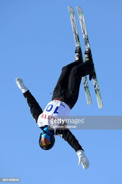 Alex Bowen of the United States performs an aerial during qualification in the FIS Freestyle Ski World Cup 2016/17 Mens Aerials at Bokwang Snow Park...