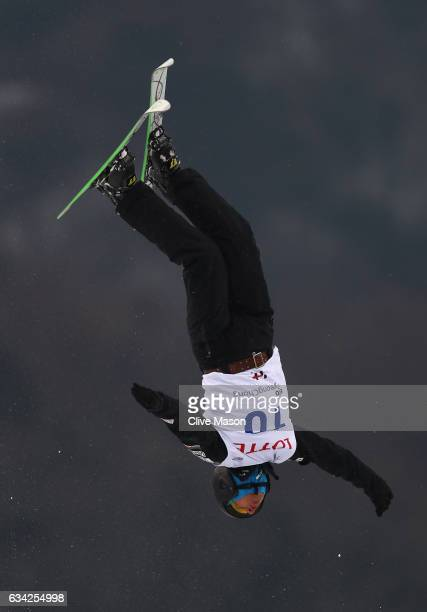 Alex Bowen of USA in action during mens aerials traing prior to the FIS Freestyle World Cup at Bokwang Snow Park on February 8 2017 in Pyeongchanggun...
