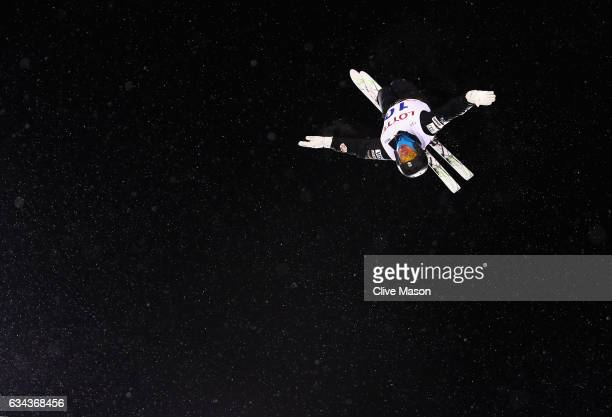 Alex Bowen of USA in action during Mens Aerials training prior to the FIS Freestyle World Cup at Bokwang Snow Park on February 9 2017 in...