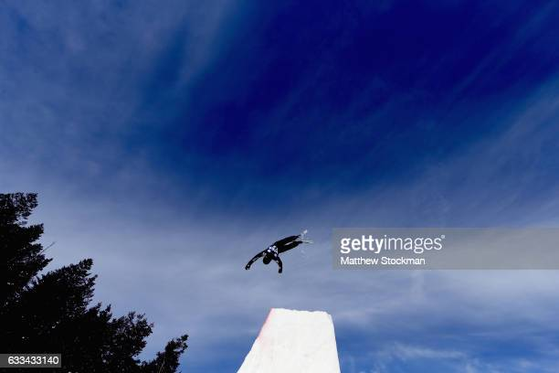 Alex Bowen trains for the men's aerials competition during the FIS Freestyle World Cup at Deer Valley Resort on February 1 2017 in Park City Utah