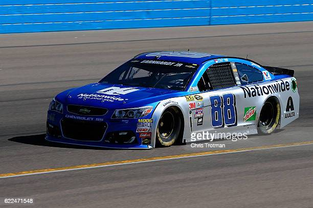 Alex Bowman driver of the Nationwide Chevrolet practices for the NASCAR Sprint Cup Series CanAm 500 at Phoenix International Raceway on November 11...