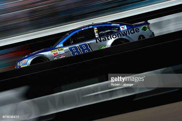 Alex Bowman driver of the Nationwide Chevrolet races during the NASCAR Sprint Cup Series CanAm 500 at Phoenix International Raceway on November 13...