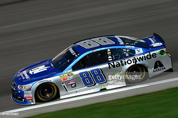 Alex Bowman drives the Nationwide Chevrolet during the NASCAR Sprint Cup Series Hollywood Casino 400 at Kansas Speedway on October 16 2016 in Kansas...