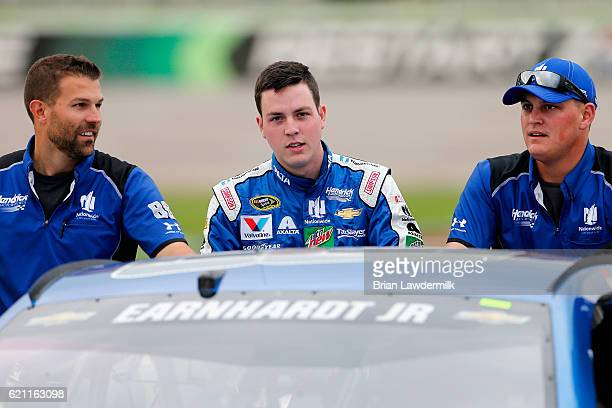 Alex Bowman pushes the Nationwide Chevrolet on the grid during Salute to Veterans Qualifying Fueled by Texas Lottery for the NASCAR Sprint Cup Series...