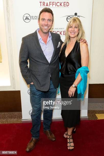 Alex Boylan and Producer Conroy Kanter attends the Premiere Of Epic Pictures Releasings' 'Trafficked' at the Aero Theatre on October 6 2017 in Santa...