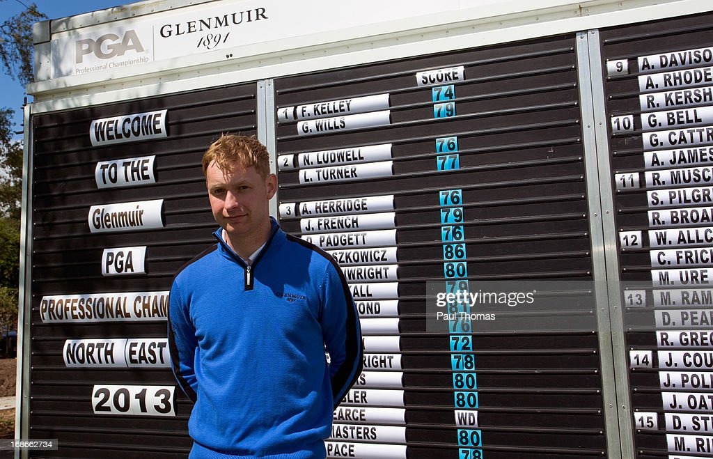 Alex Boyton of Skidby Lakes Golf Club poses for a photograph after winning the Glenmuir PGA Professional Championship North East Regional Qualifier at Fulford Golf Club on May 13, 2013 in York, England.