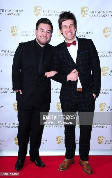 Alex Brooker and Chris Ramsey attending the British Academy Games Awards at Tobacco Dock London