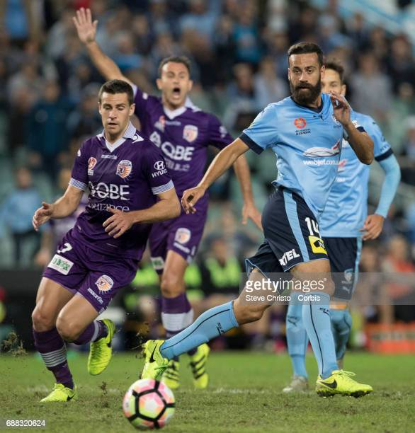 Alex Brosque of Sydney FC during the 2017 ALeague Grand Final match between Sydney FC and the Melbourne Victory at Allianz Stadium on May 7 2017 in...