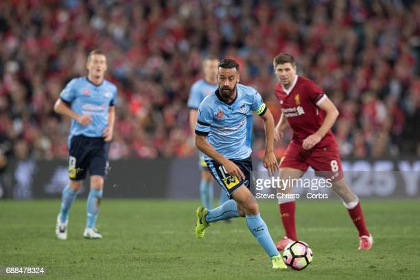 Alex Brosque of Sydney FC in action during the International Friendly match between Sydney FC and Liverpool FC at ANZ Stadium on May 24 2017 in...