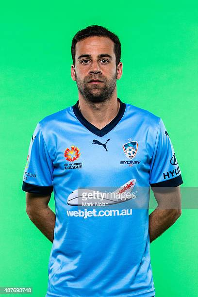 Alex Brosque poses during the Sydney FC 2015/16 ALeague headshots session at Fox Sports Studios on September 11 2015 in Sydney Australia