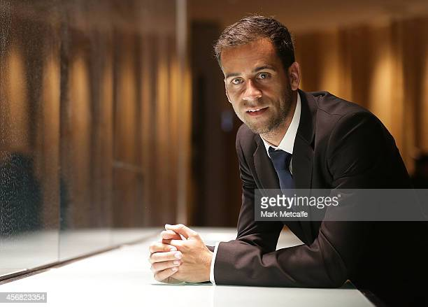 Alex Brosque poses during the Sydney FC ALeague season launch at The Westin on October 8 2014 in Sydney Australia
