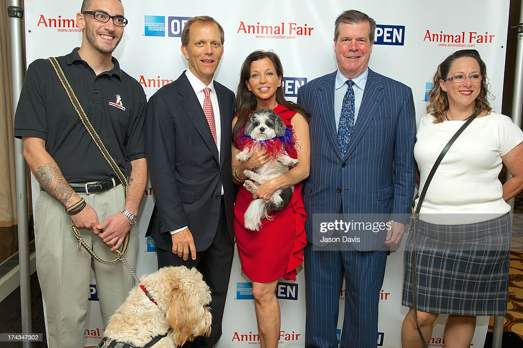 Alex Brown, Philanthropist John Ingram, Wendy Diamond and Mayor Karl Dean and Melissa Maher attend AnimalFair.com Bark Breakfast Benefiting K9s For Warriors at the Loews Vanderbilt Hotel on July 24, 2013 in Nashville, Tennessee.