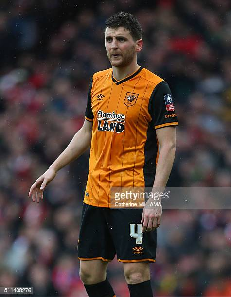 Alex Bruce of Hull City during the Emirates FA Cup match between Arsenal and Hull City at the Emirates Stadium on February 20 2016 in London England