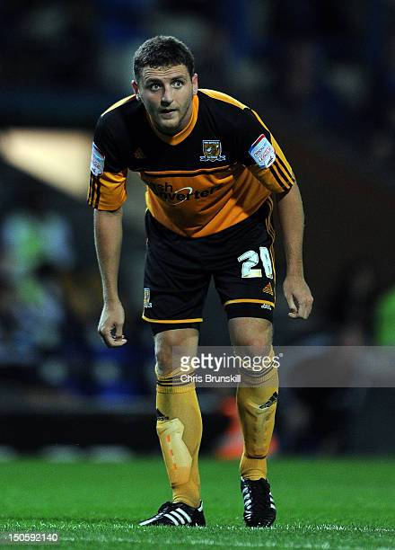 Alex Bruce of Hull City looks on during the npower Championship match between Blackburn Rovers and Hull City at Ewood Park on August 22 2012 in...