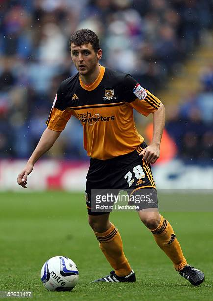 Alex Bruce of Hull in action during the npower Championship match between Leicester City and Hull City at The King Power Stadium on September 23 2012...