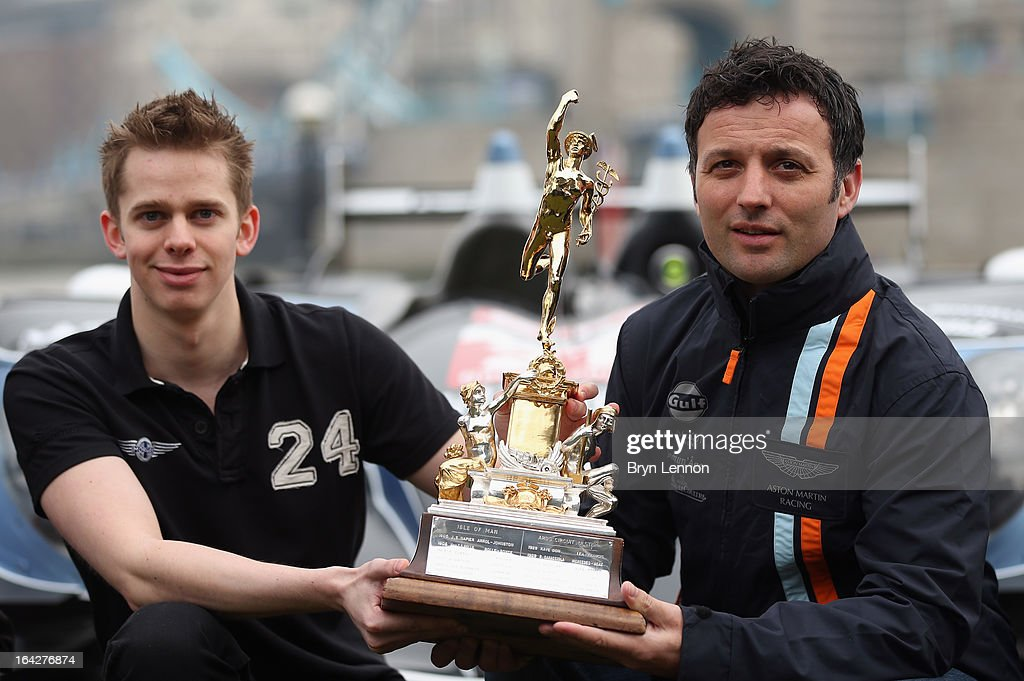 Alex Brundle of Oak Racing and Darren Turner of Aston Martin Racing pose with the RAC Tourist Trophy during the 2013 FIA World Endurance Championship...
