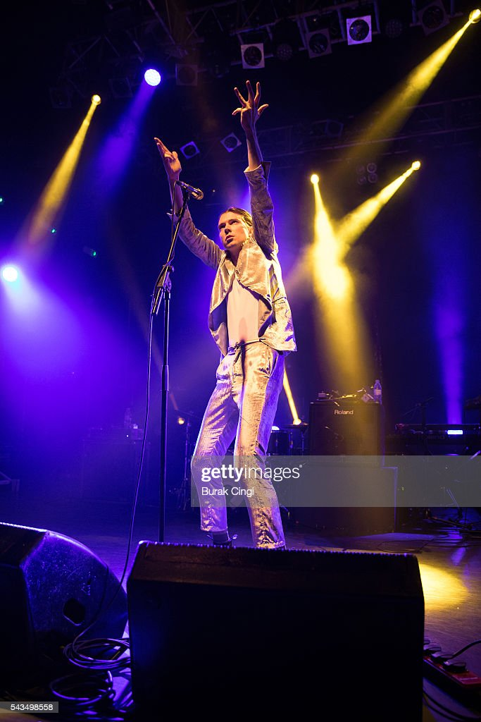 Alex Cameron performs live on stage at KOKO on June 28, 2016 in London, England.