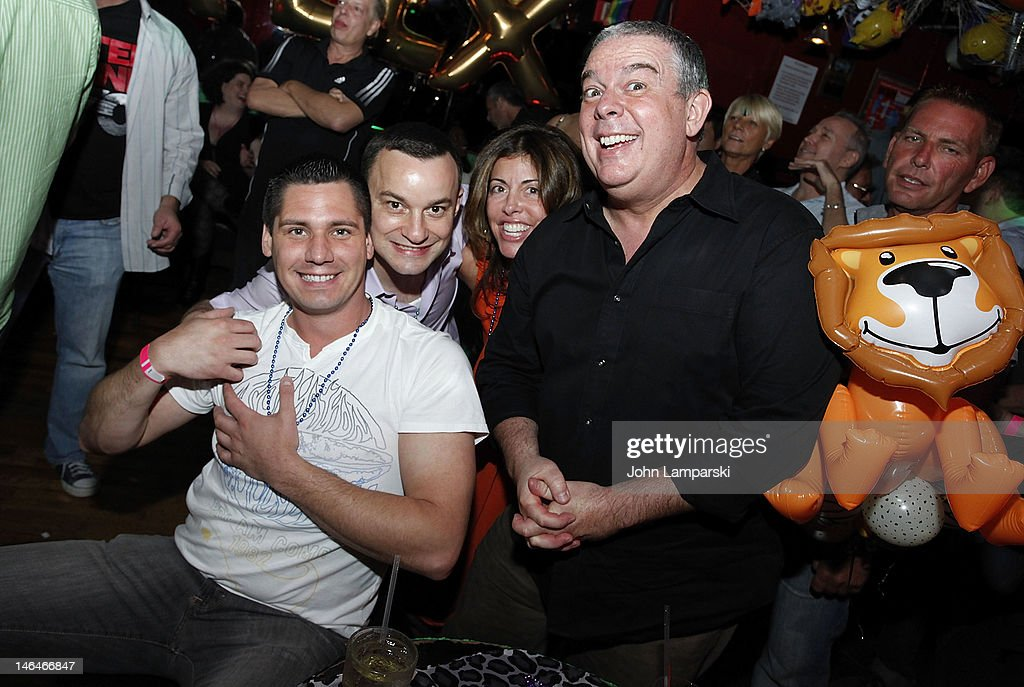 Alex Carr, <a gi-track='captionPersonalityLinkClicked' href=/galleries/search?phrase=Elvis+Duran&family=editorial&specificpeople=3048281 ng-click='$event.stopPropagation()'>Elvis Duran</a> and guests attend Alex Carr's birthday celebration>> at The Stonewall Inn on June 16, 2012 in New York City.