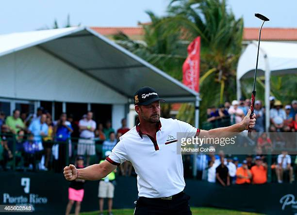 Alex Cejka of Germany celebrates after winning the playoff during the final round of the Puerto Rico Open presented by Banco Popular on March 8 2015...