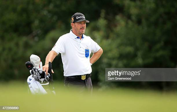 Alex Cejka of Germany looks on during a practice round for THE PLAYERS Championship at the TPC Sawgrass Stadium course on May 6 2015 in Ponte Vedra...