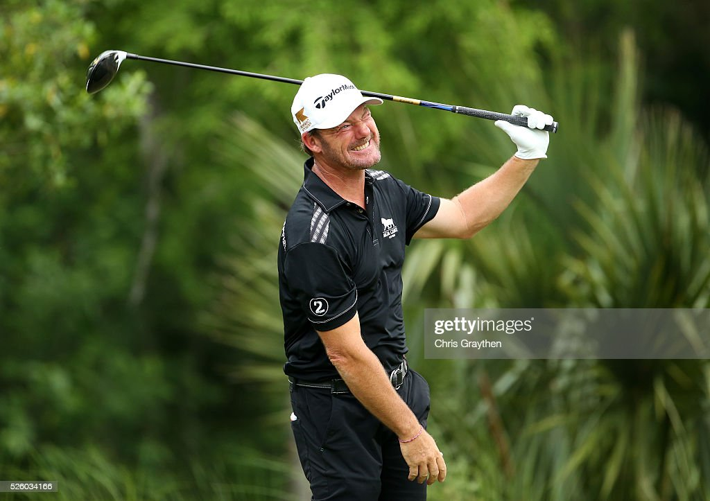 <a gi-track='captionPersonalityLinkClicked' href=/galleries/search?phrase=Alex+Cejka&family=editorial&specificpeople=206573 ng-click='$event.stopPropagation()'>Alex Cejka</a> of Germany tees off on the 11th hole during a continuation of the first round of the Zurich Classic of New Orleans at TPC Louisiana on April 29, 2016 in Avondale, Louisiana.