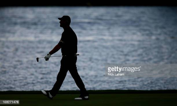 Alex Cejka of Germany walks down the 13th fairway during round two at the Turning Stone Resort Championship at Atunyote Golf Club held on August 6...