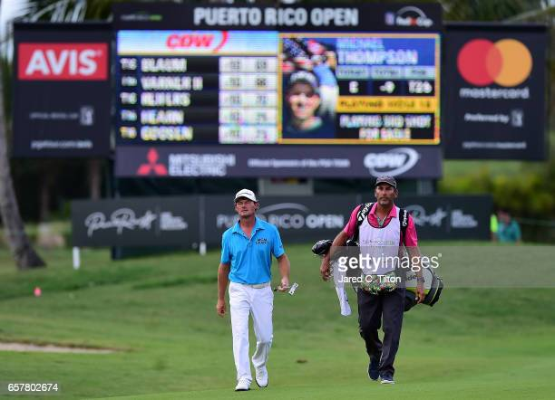 Alex Cejka of Germany walks up to the 18th green during the third round of the Puerto Rico Open at Coco Beach on March 25 2017 in Rio Grande Puerto...