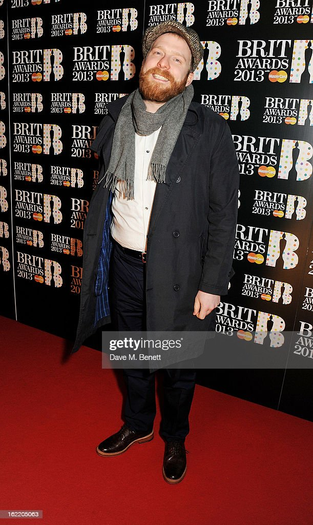 Alex Clare arrives at the BRIT Awards 2013 at the O2 Arena on February 20 2013 in London England
