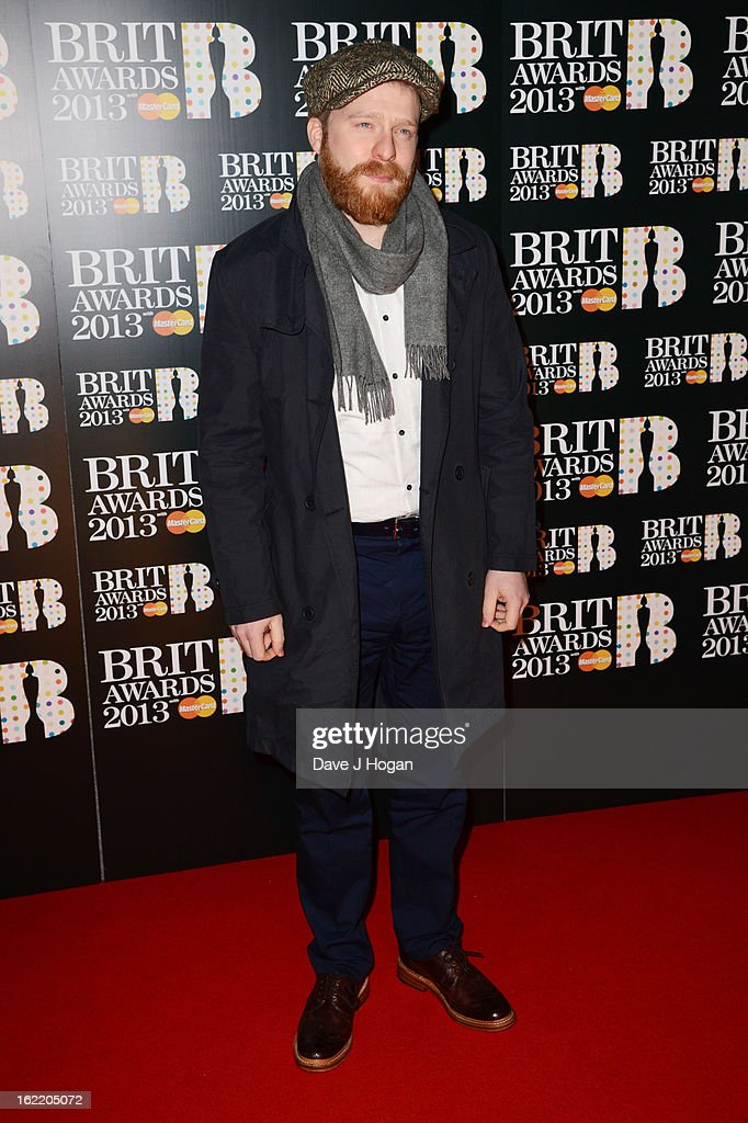 Alex Clare attends The Brit Awards 2013 at The O2 Arena on February 20 2013 in London England